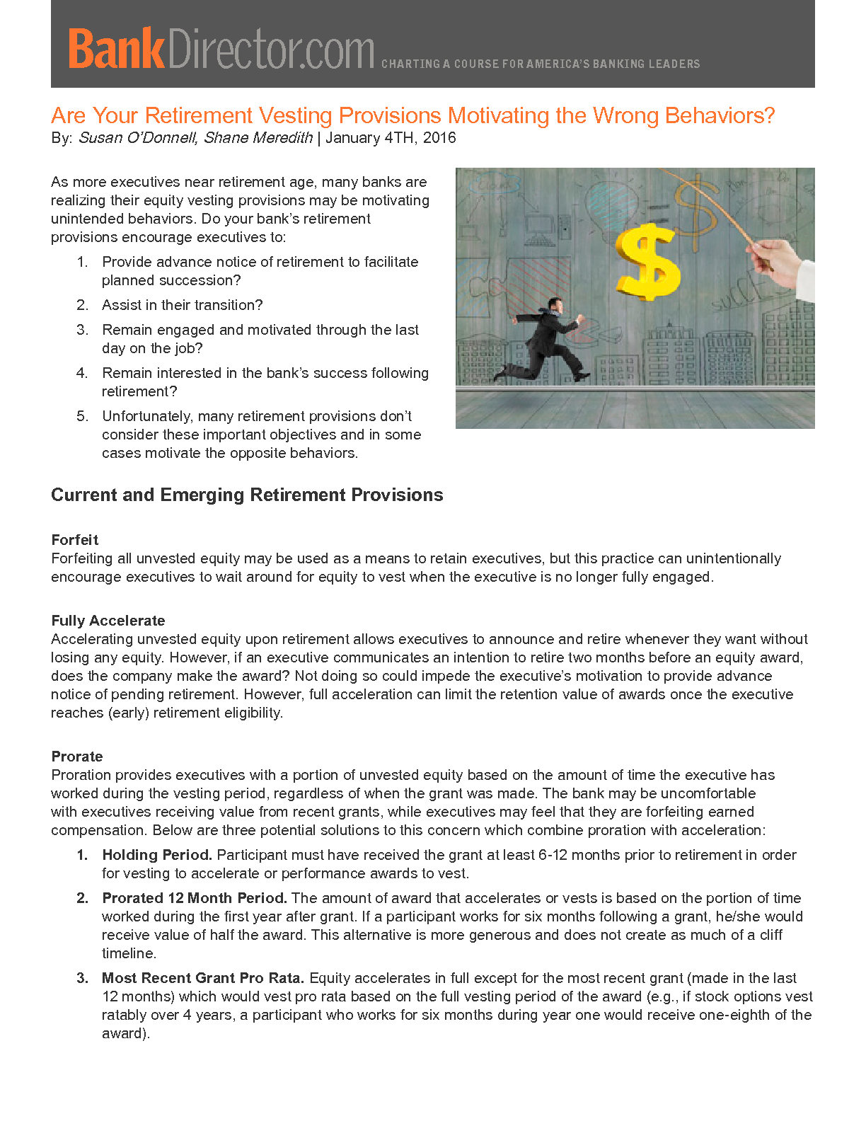 Are Your Retirement Vesting Provisions Motivating the Wrong Behaviors? (PDF)