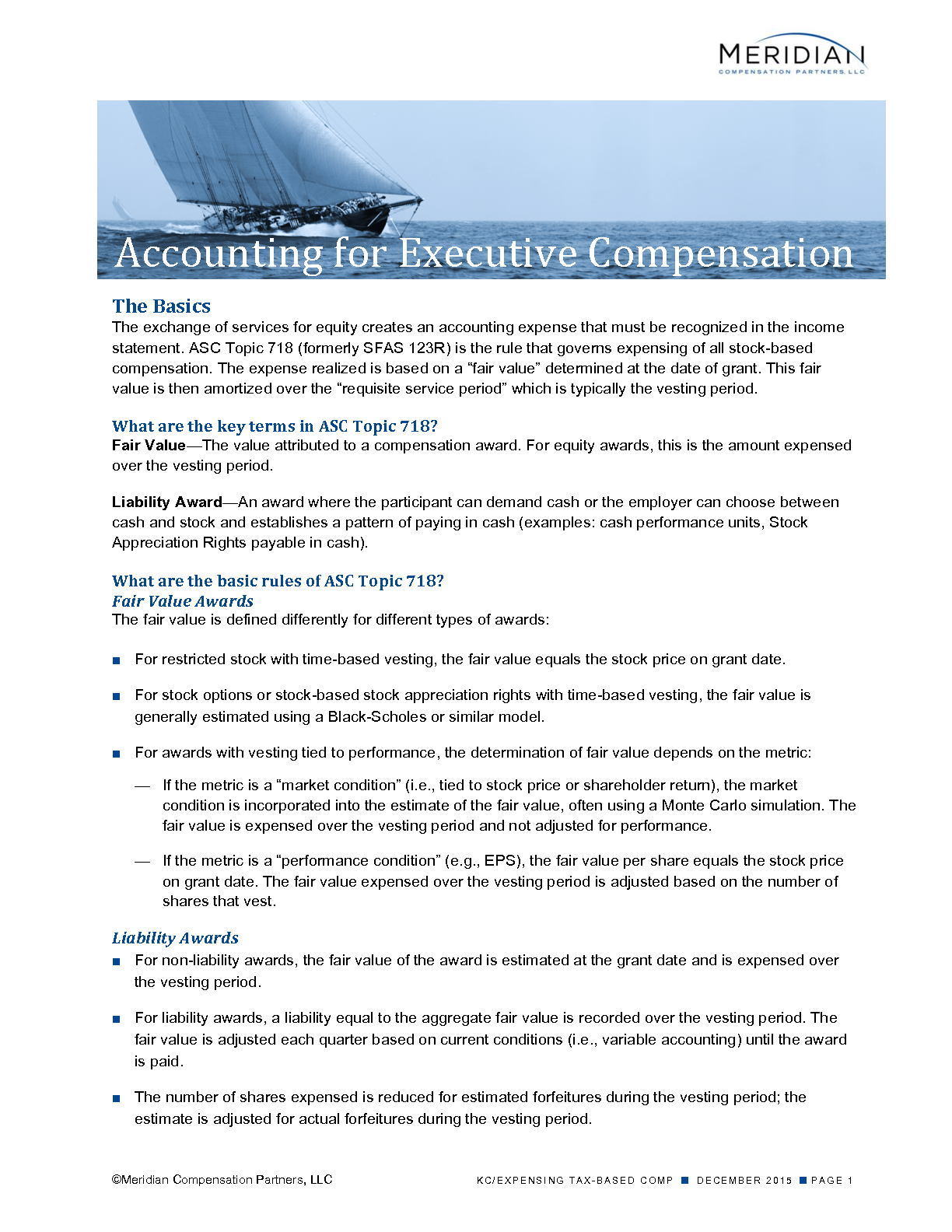 Accounting for Executive Compensation (PDF)