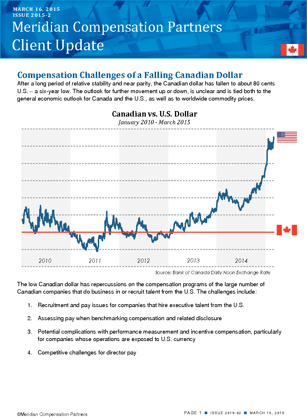 Compensation Challenges of a Falling Canadian Dollar (PDF)