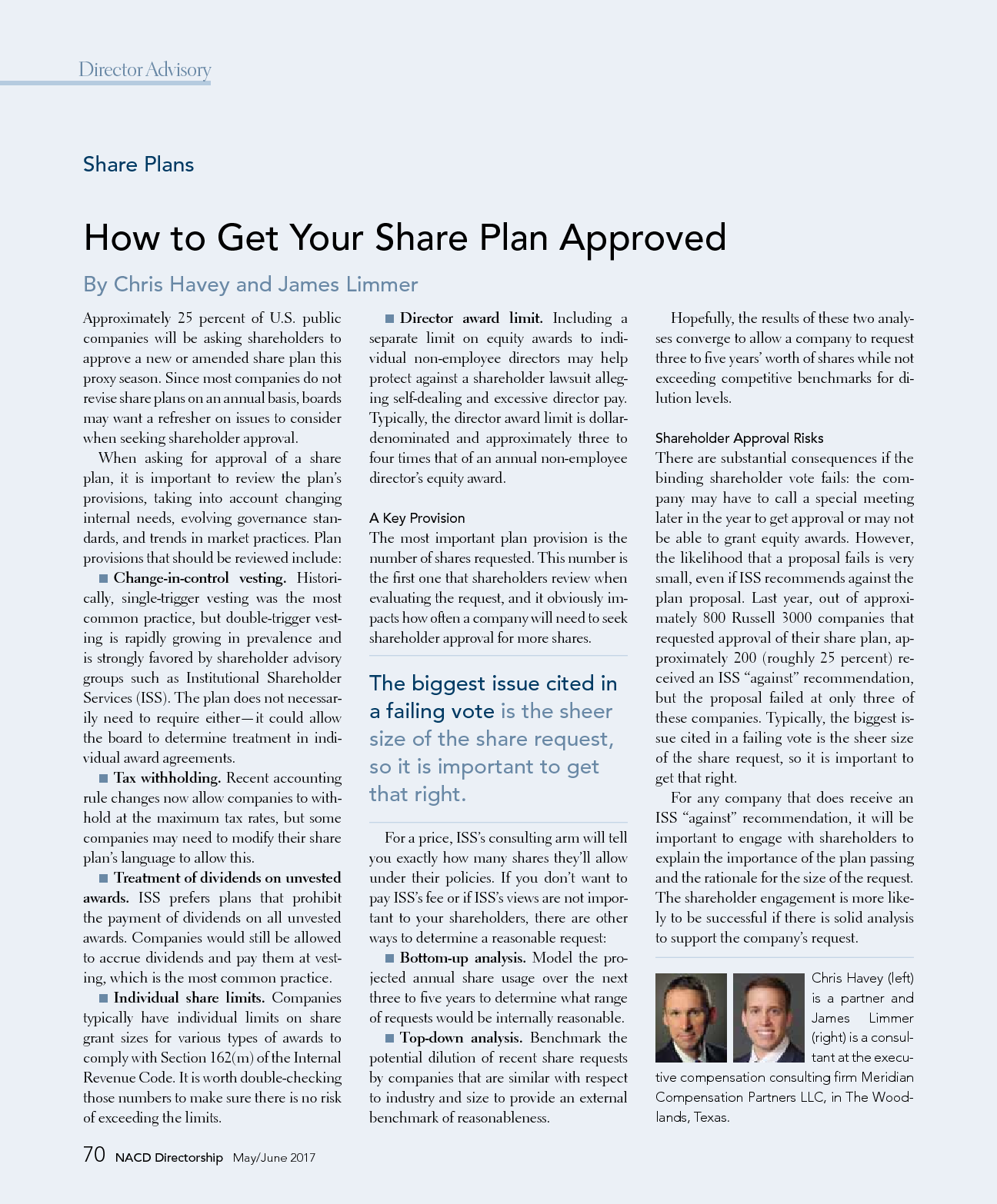 How to Get Your Share Plan Approved (PDF)