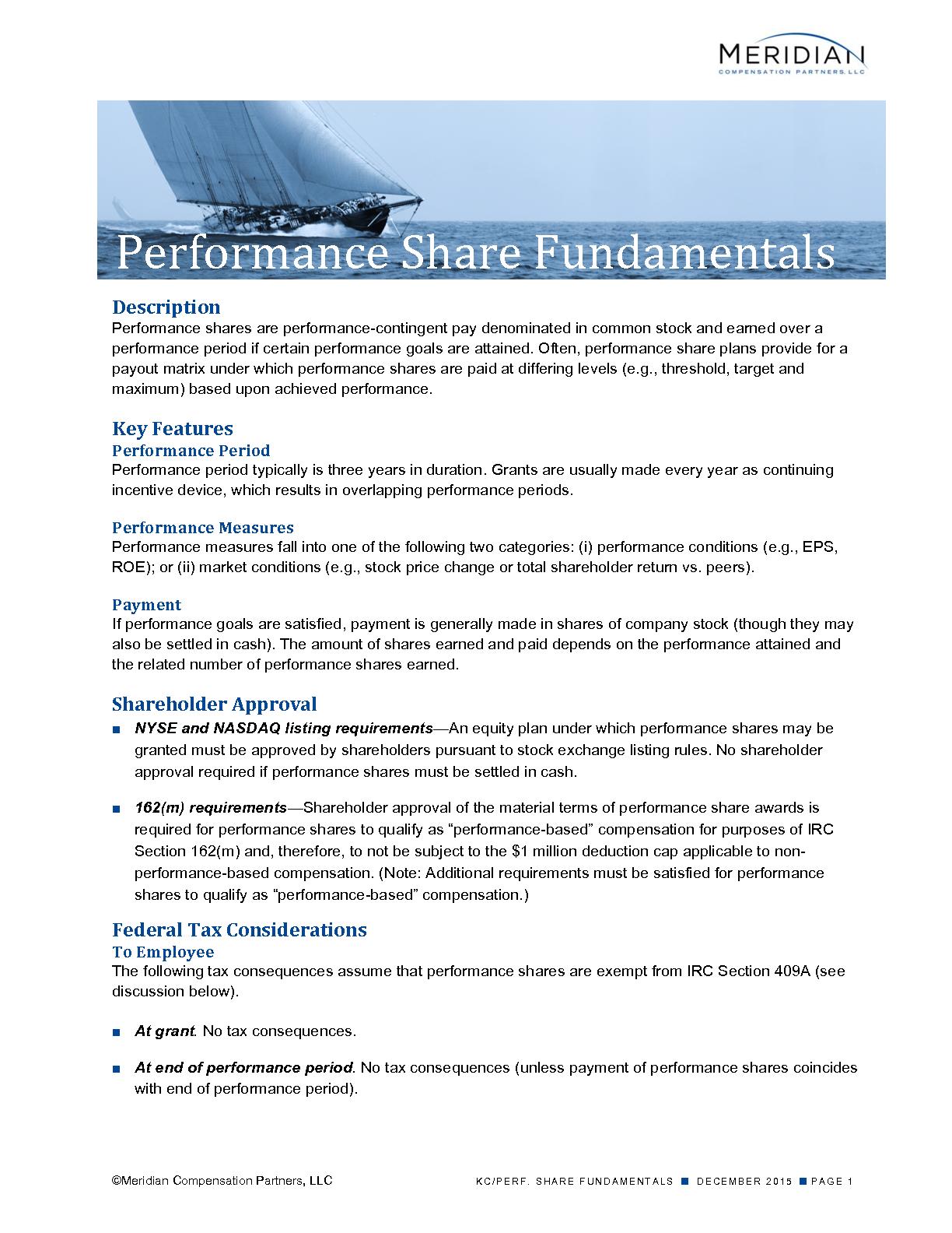 Performance Share Fundamentals (PDF)