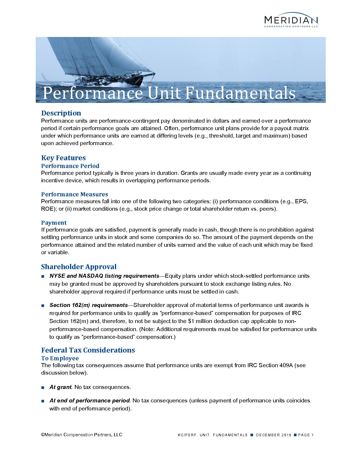 Performance Unit Fundamentals (PDF)