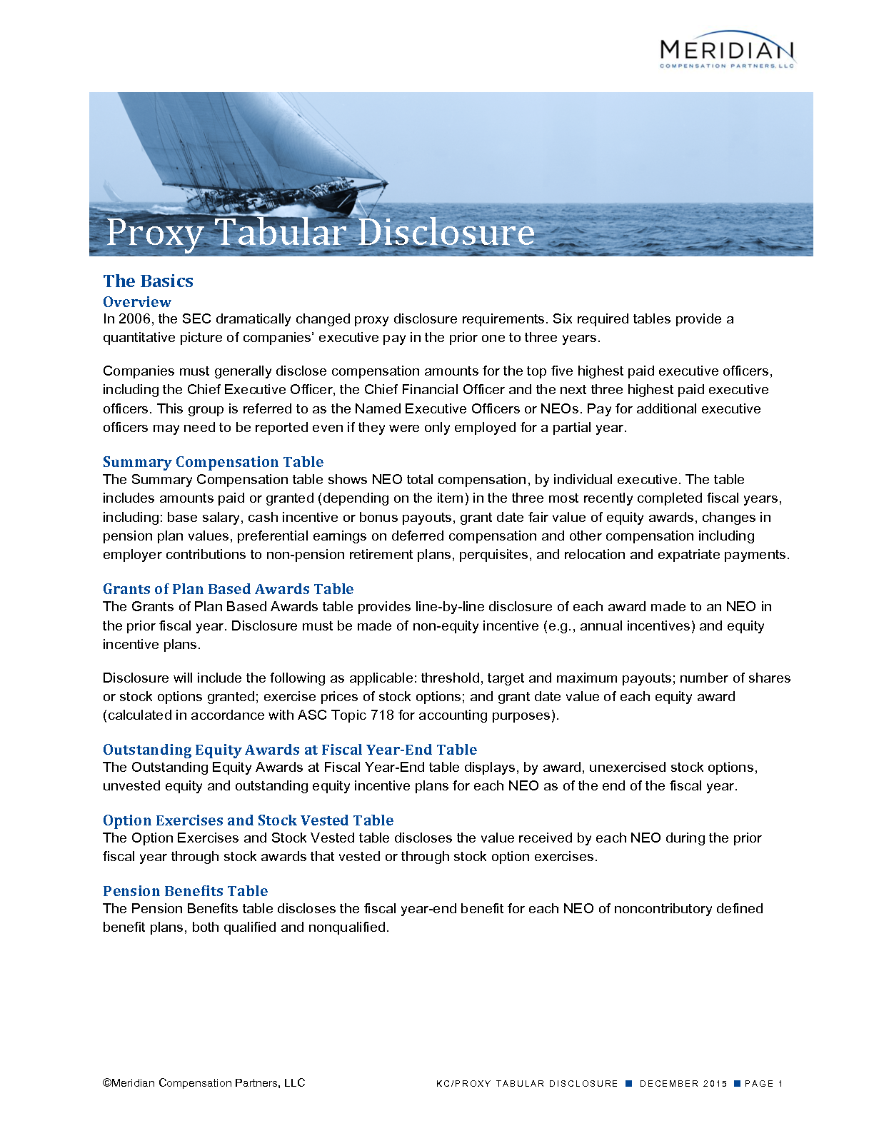 proxy tabular disclosure meridian compensation partners llc proxy tabular disclosure pdf