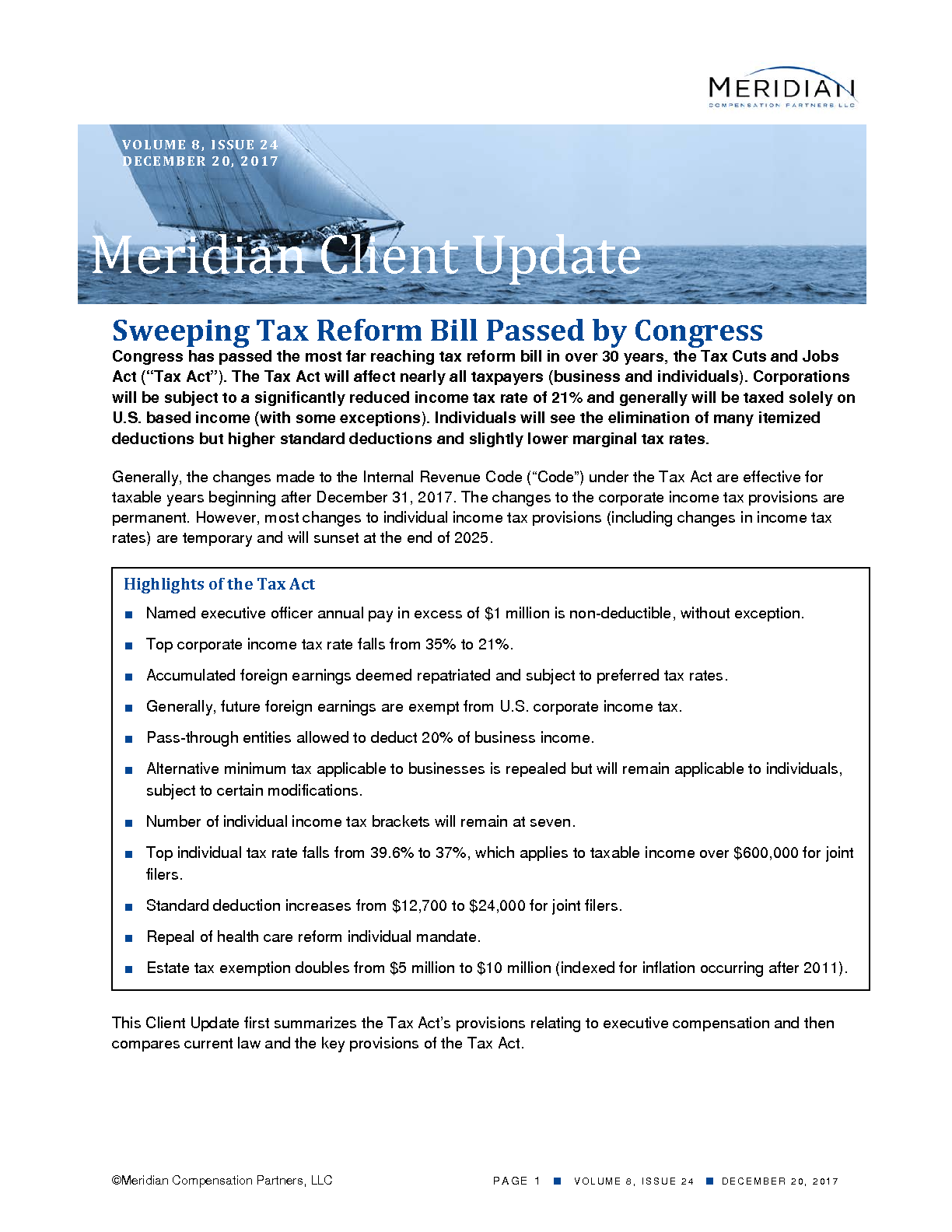 Sweeping Tax Reform Bill Passed by Congress (PDF)
