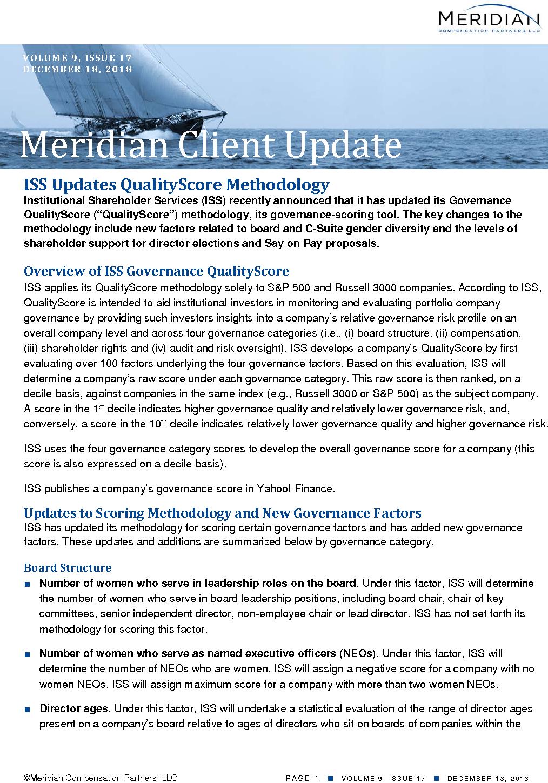 ISS Updates QualityScore Methodology (PDF)