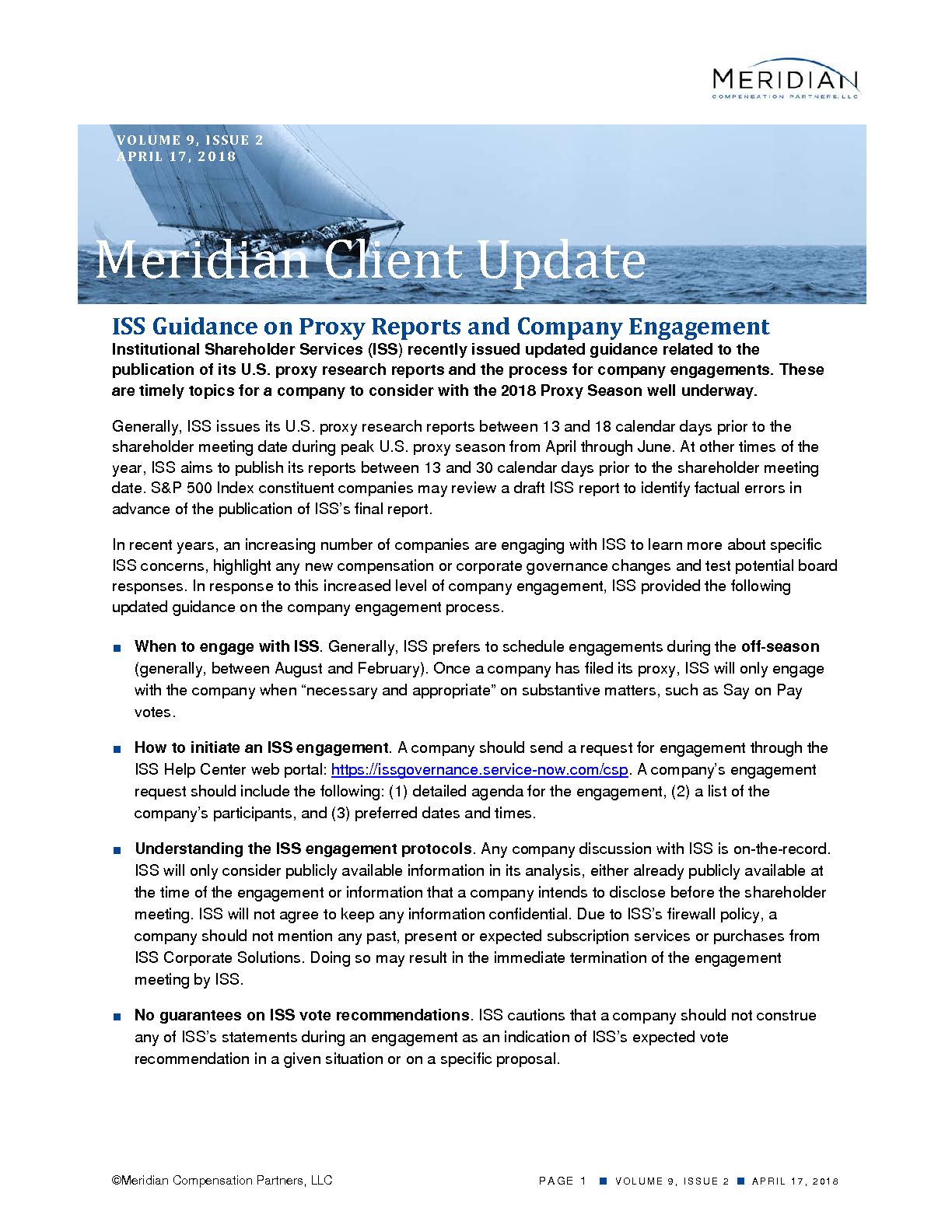 ISS Guidance on Proxy Reports and Company Engagement (PDF)