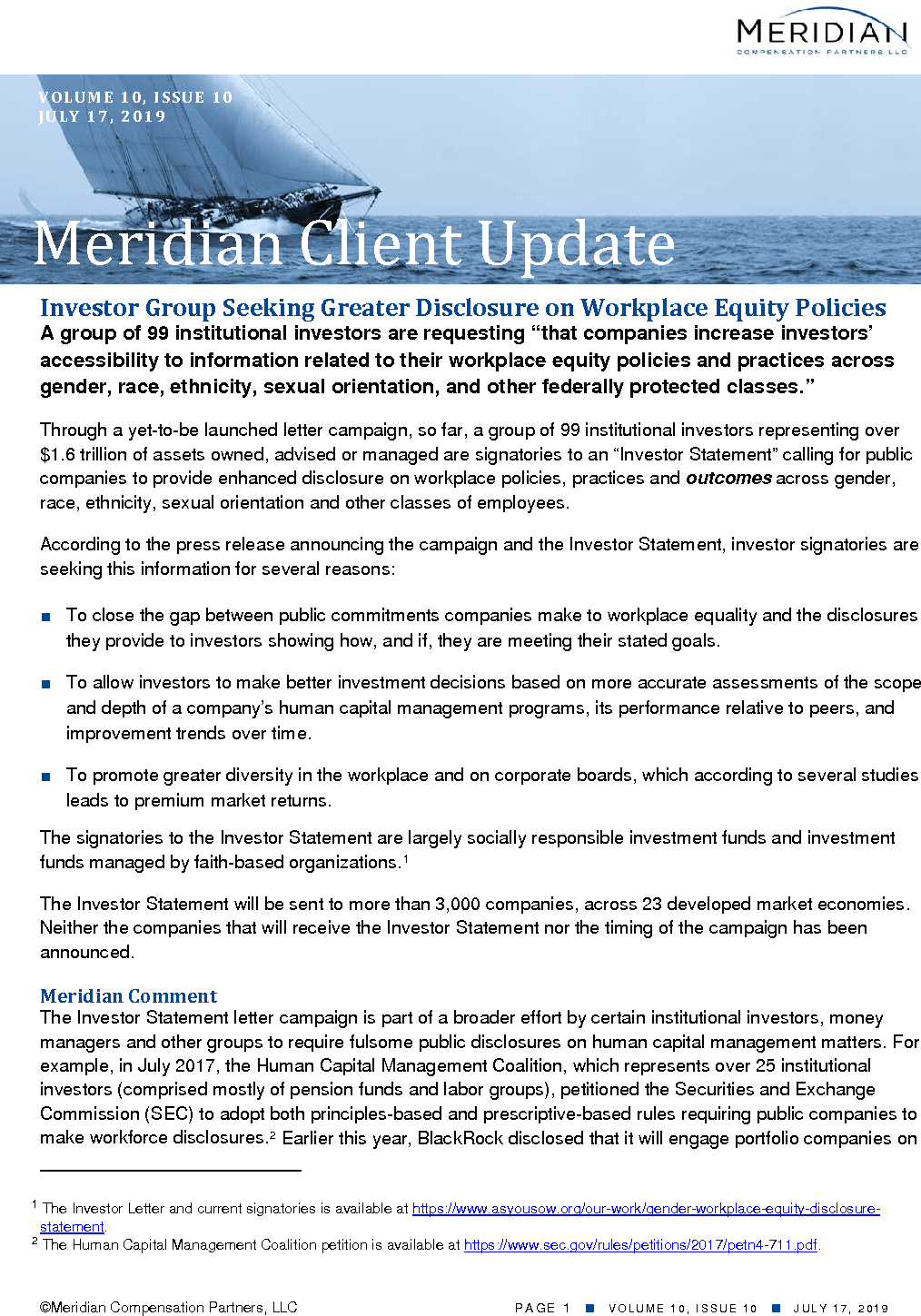 Investor Group Seeking Greater Disclosure on Workplace Equity Policies (PDF)