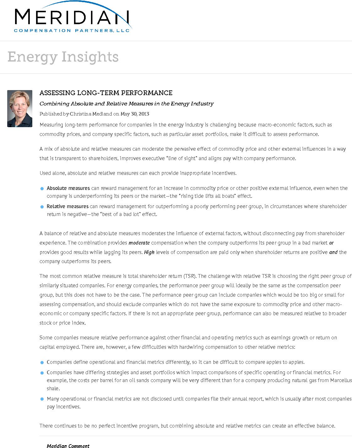 Assessing Long-Term Performance (PDF)