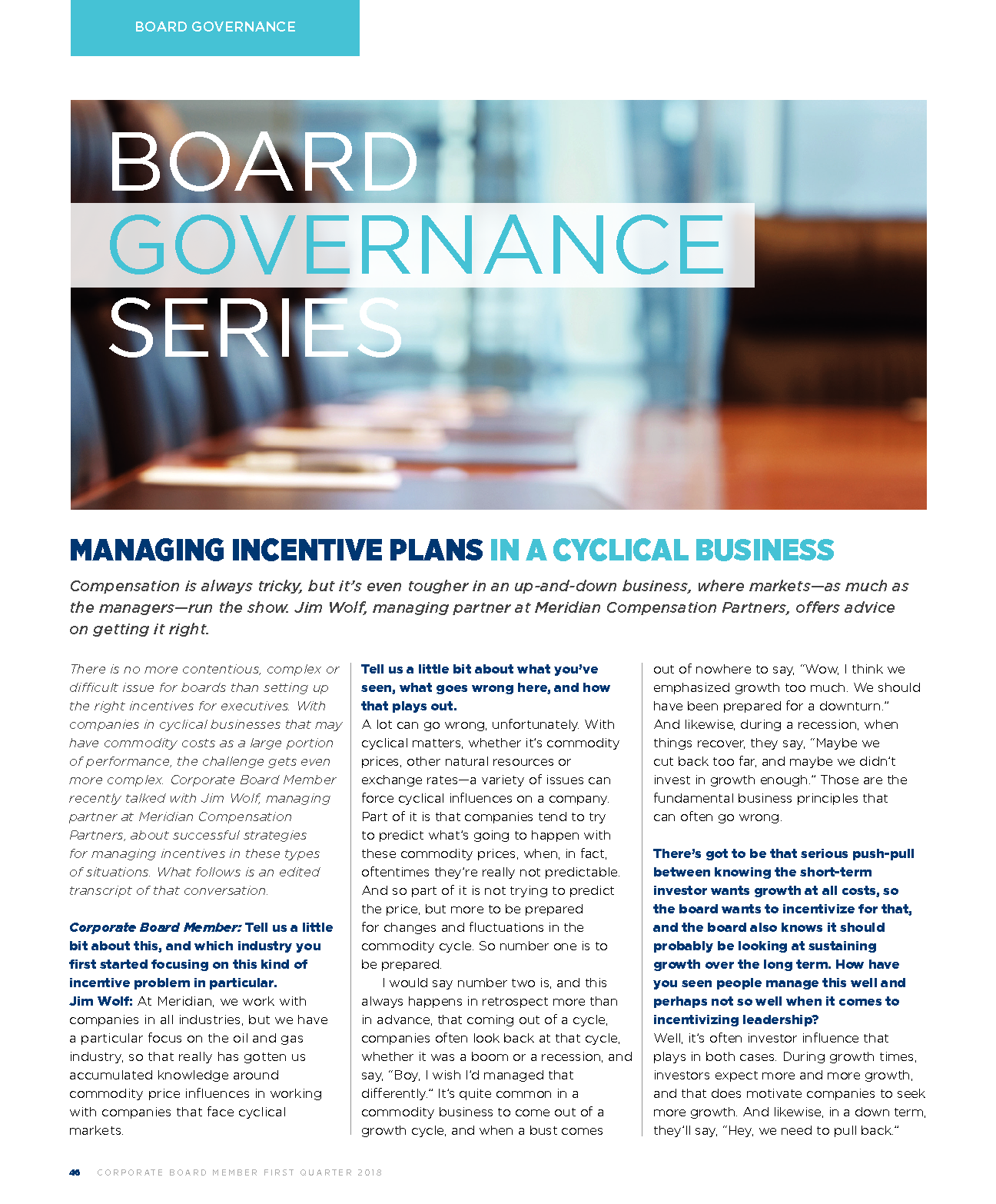 Managing Incentive Plans in a Cyclical Business | Meridian