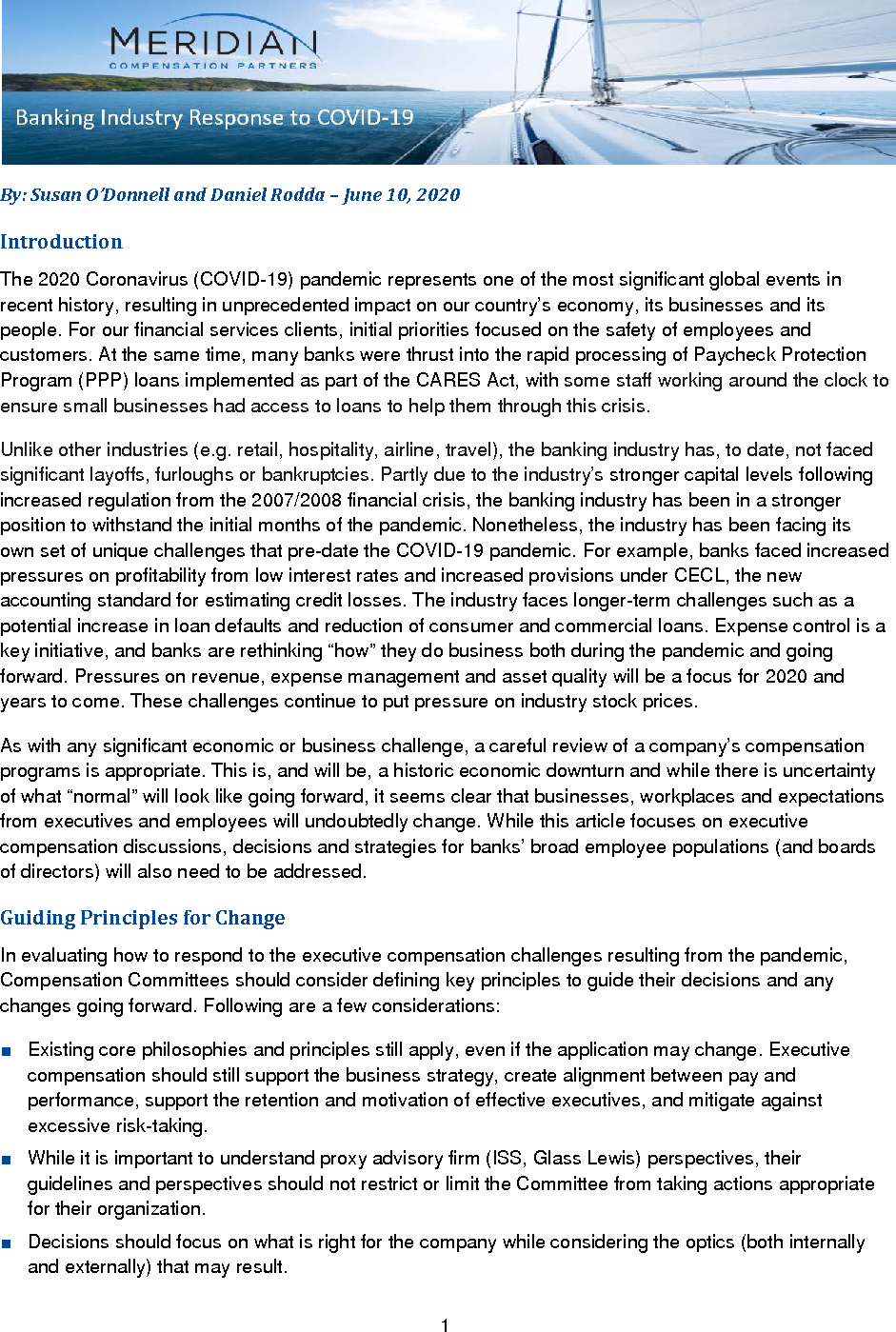 Banking Industry Response to COVID-19 (PDF)
