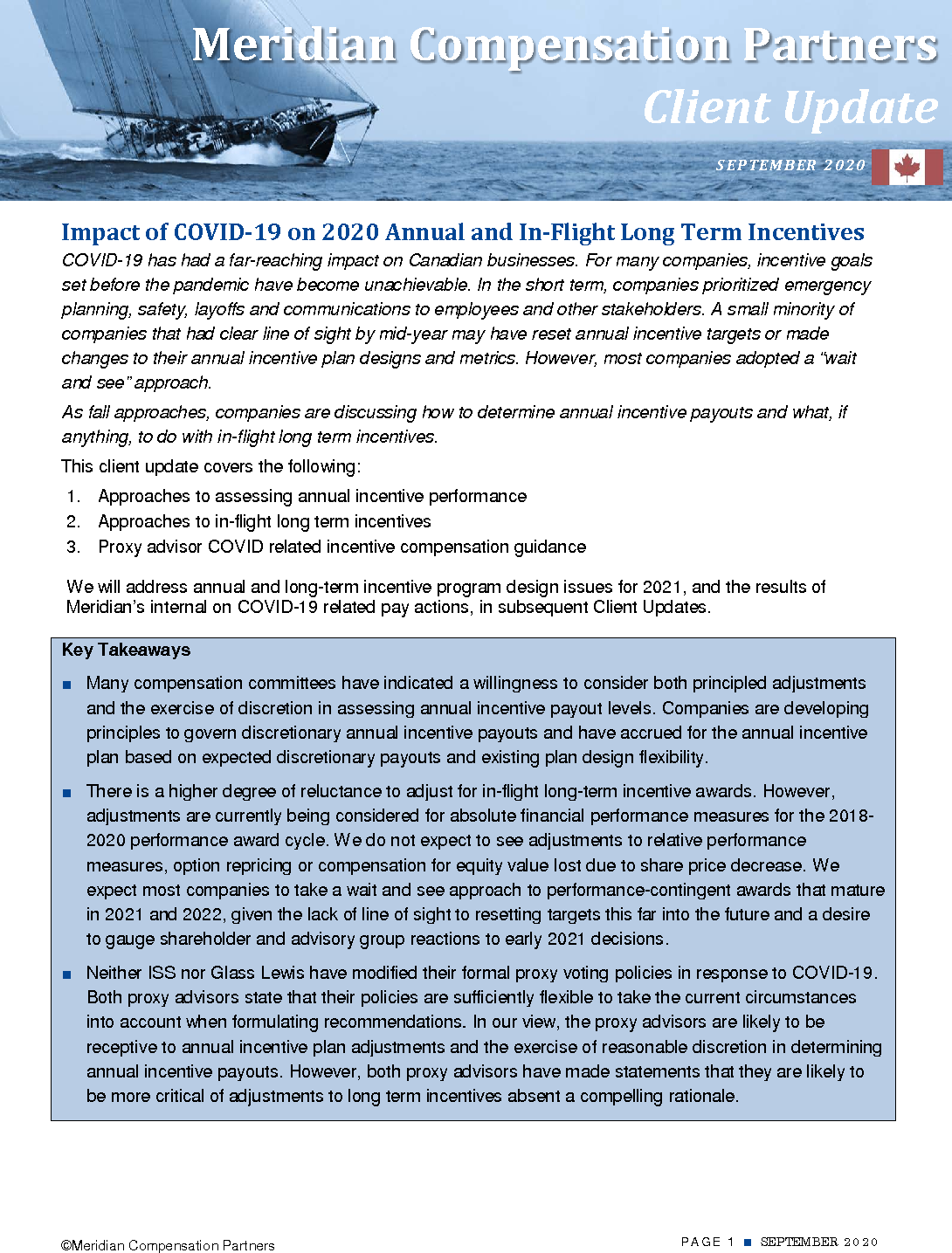 Impact of COVID-19 on 2020 Annual and In-Flight Long Term Incentives (PDF)