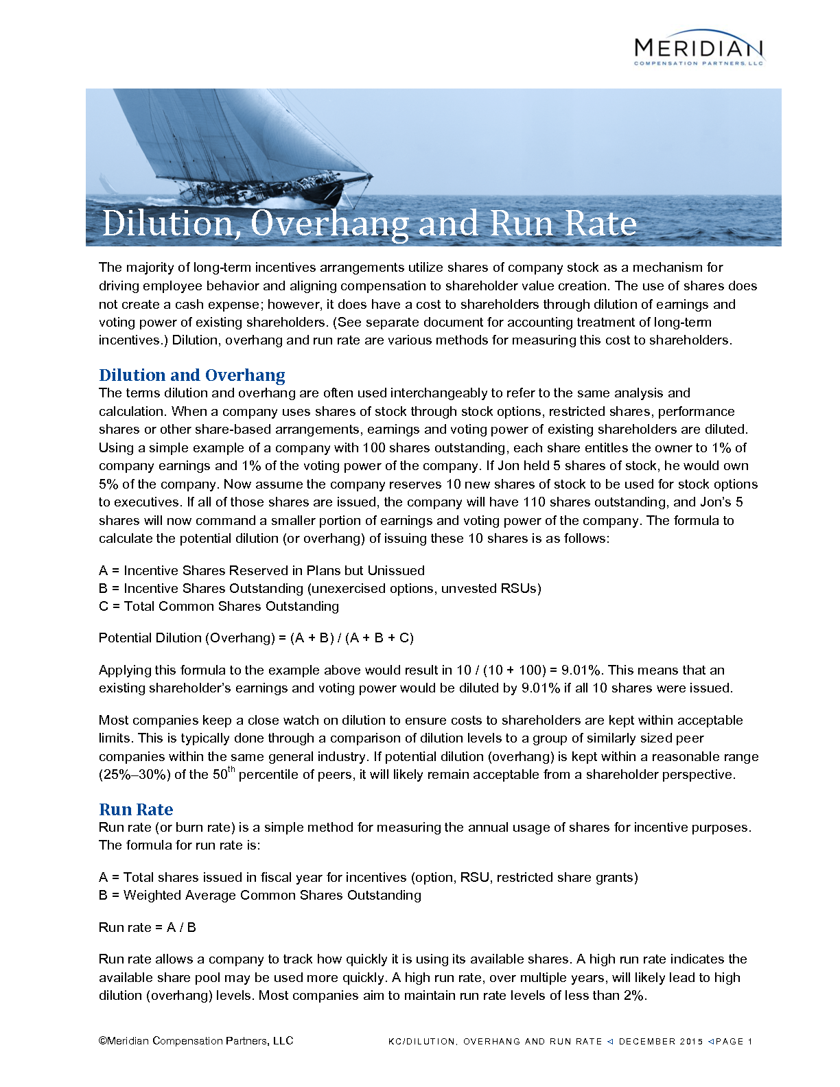 Dilution, Overhang and Run Rate (PDF)