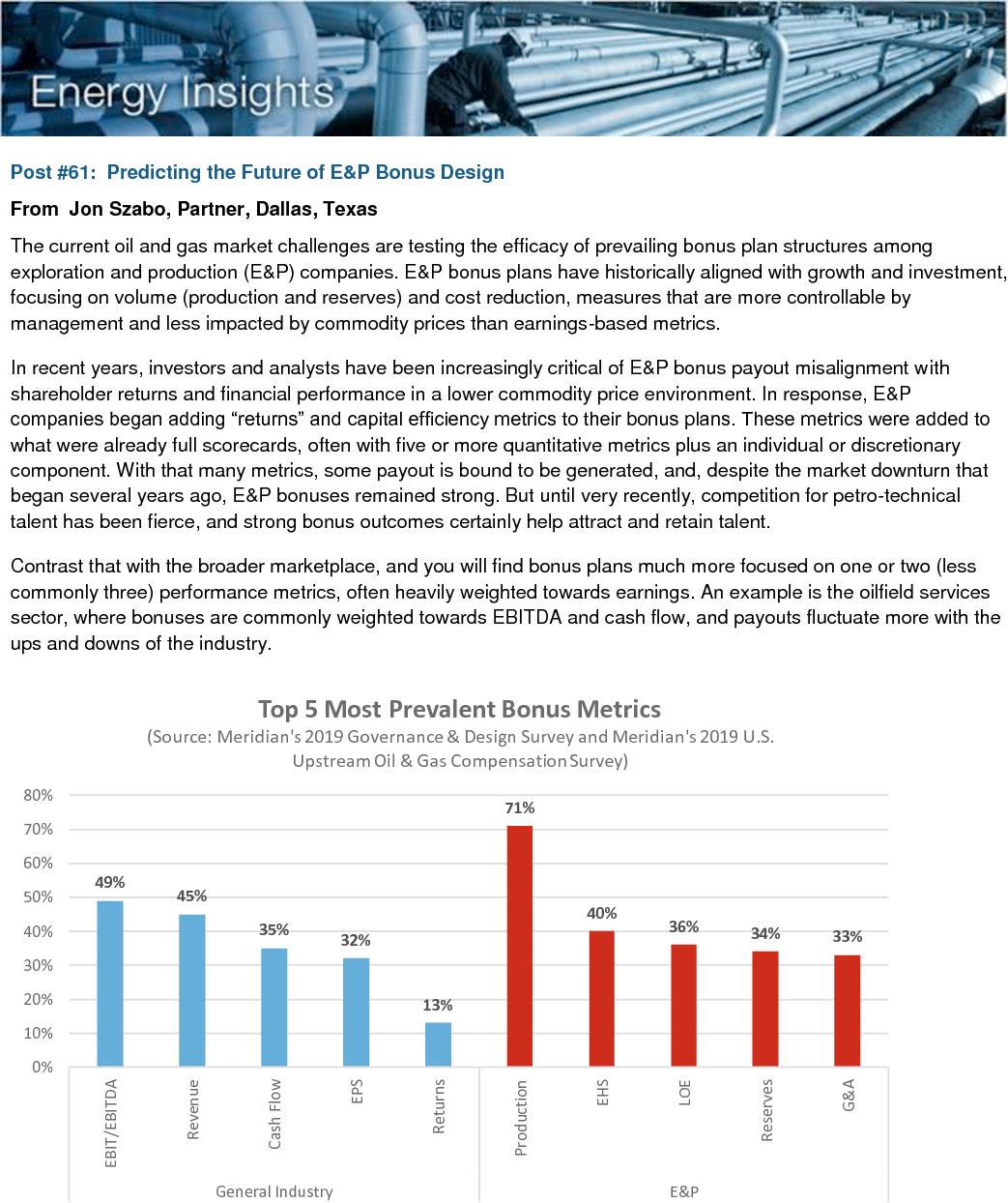 Predicting the Future of E&P Bonus Design (PDF)