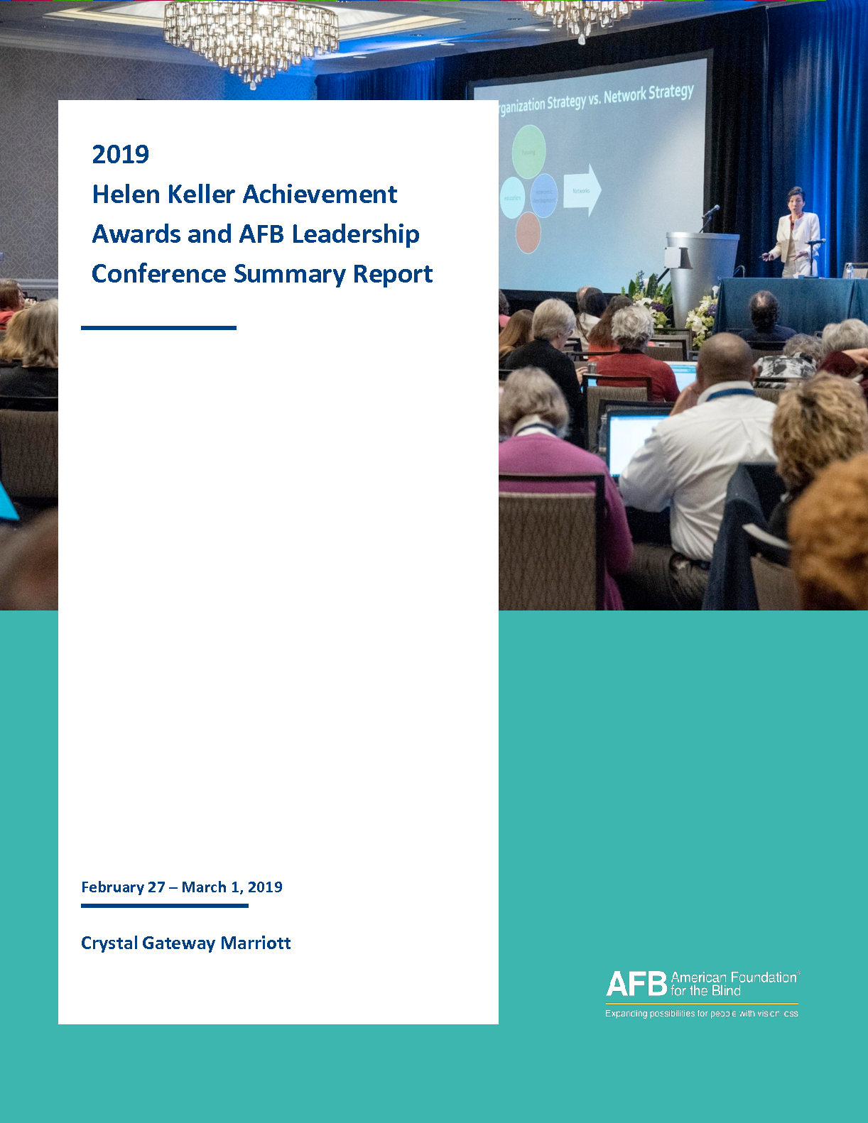 2019 Helen Keller Achievement Awards and AFB Leadership Conference (PDF)
