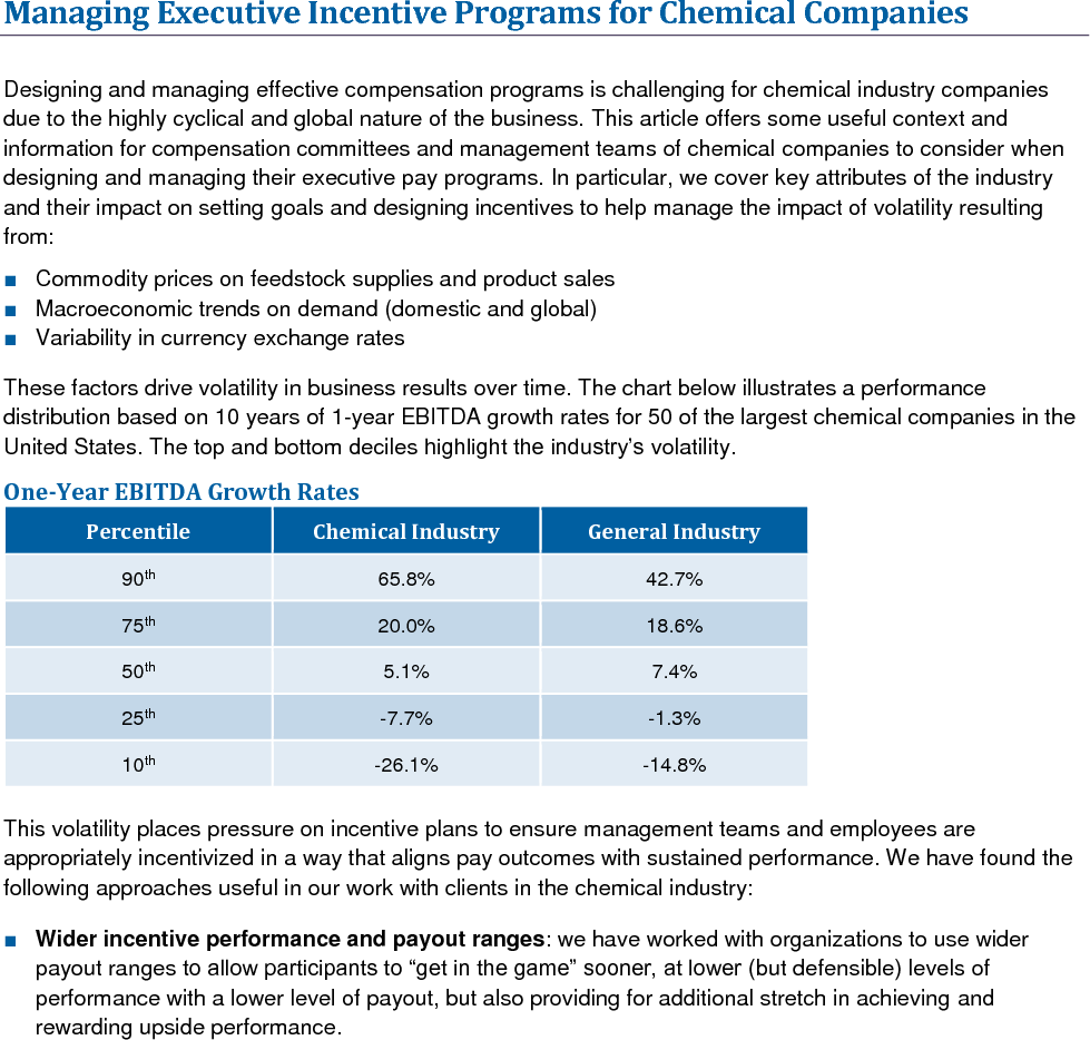 Managing Executive Incentive Programs for Chemical Companies (PDF)