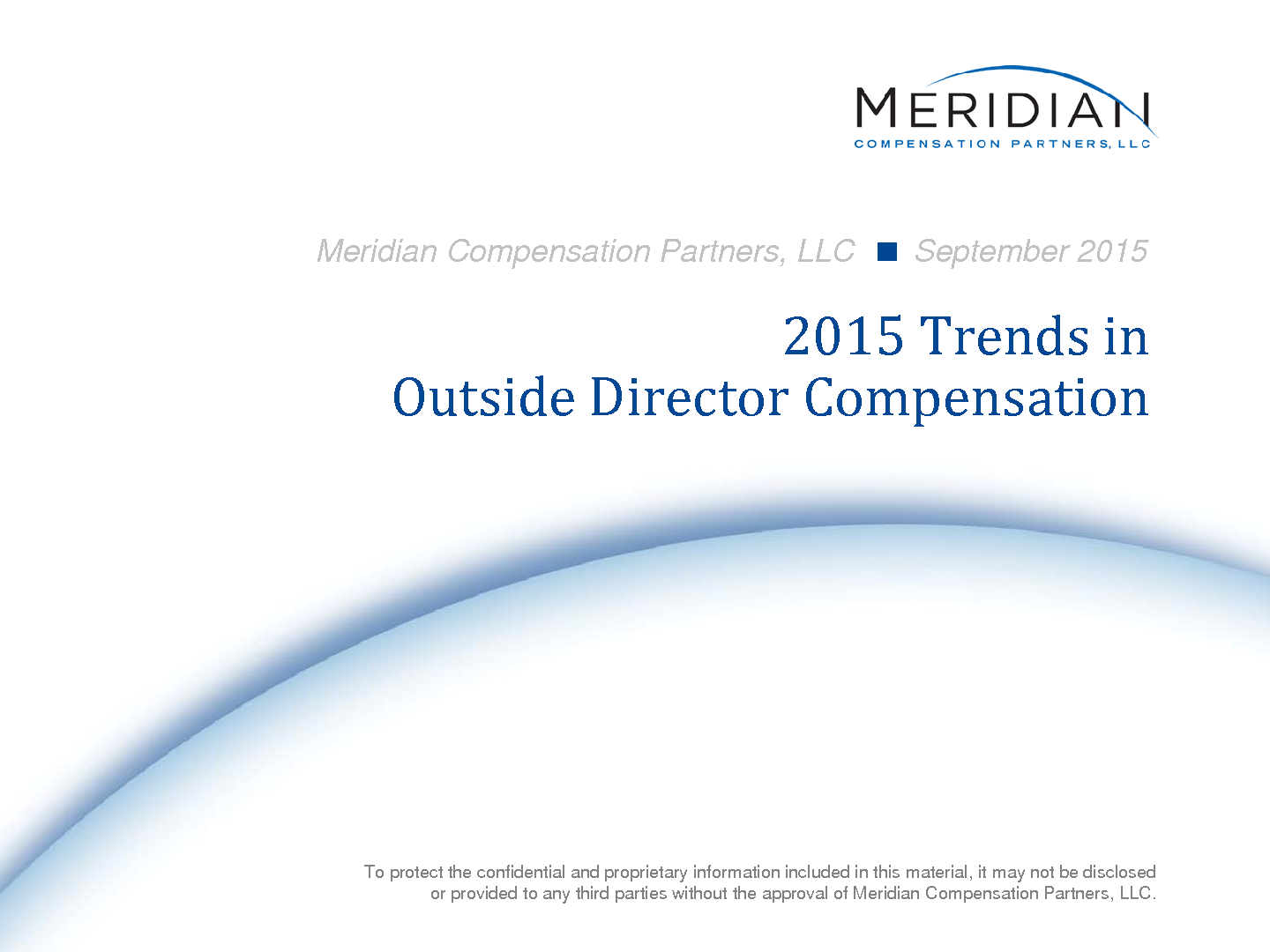 2015 Outside Director Compensation Trends Report (PDF)