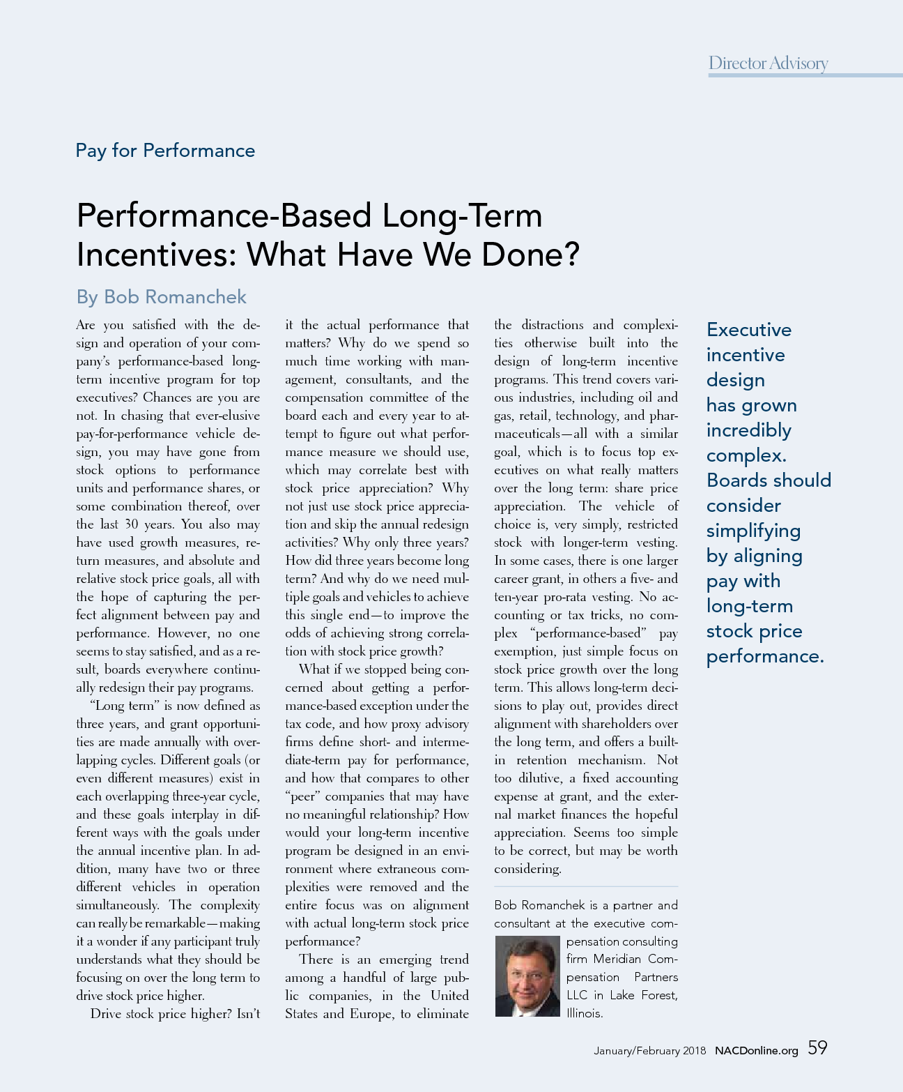 Performance-Based Long-Term Incentives: What Have We Done? (PDF)