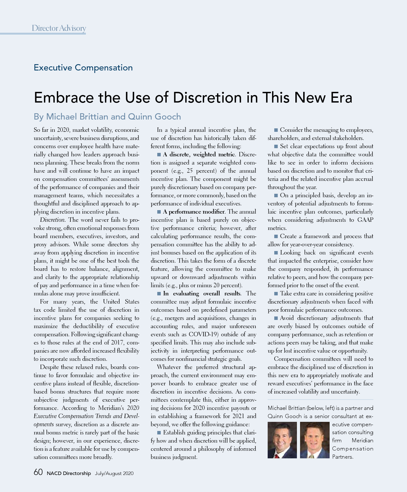 Embrace the Use of Discretion in This New Era (PDF)