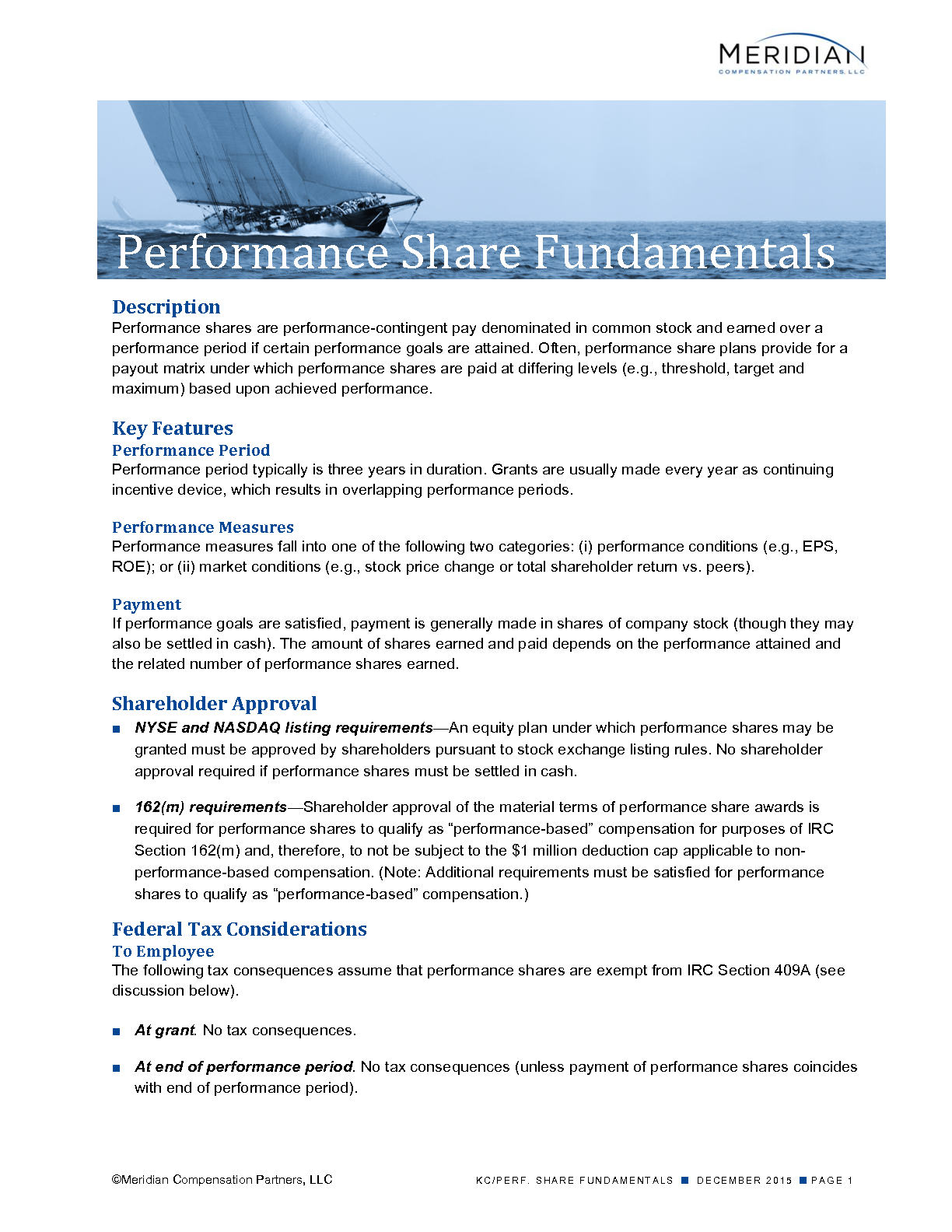Performance Share Fundamentals (PDF)