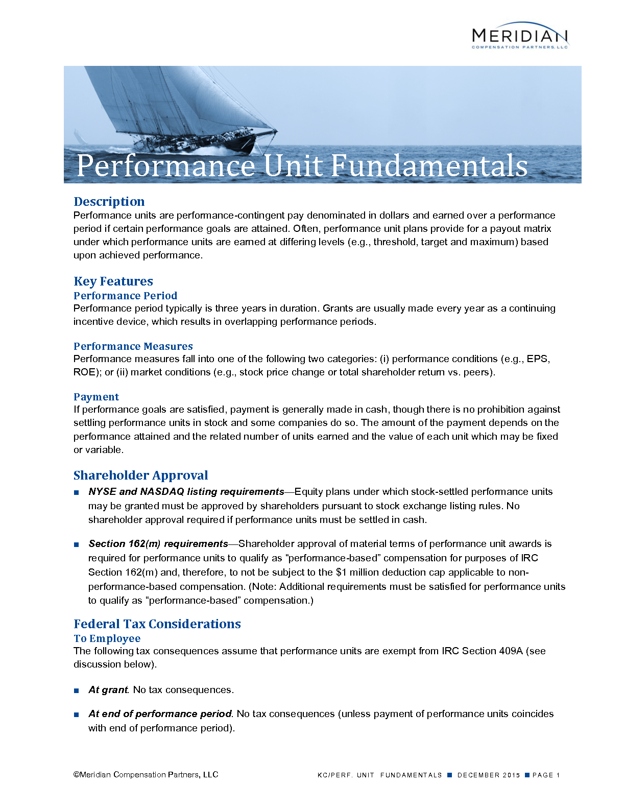 Performance Unit Fundamentals (PDF)