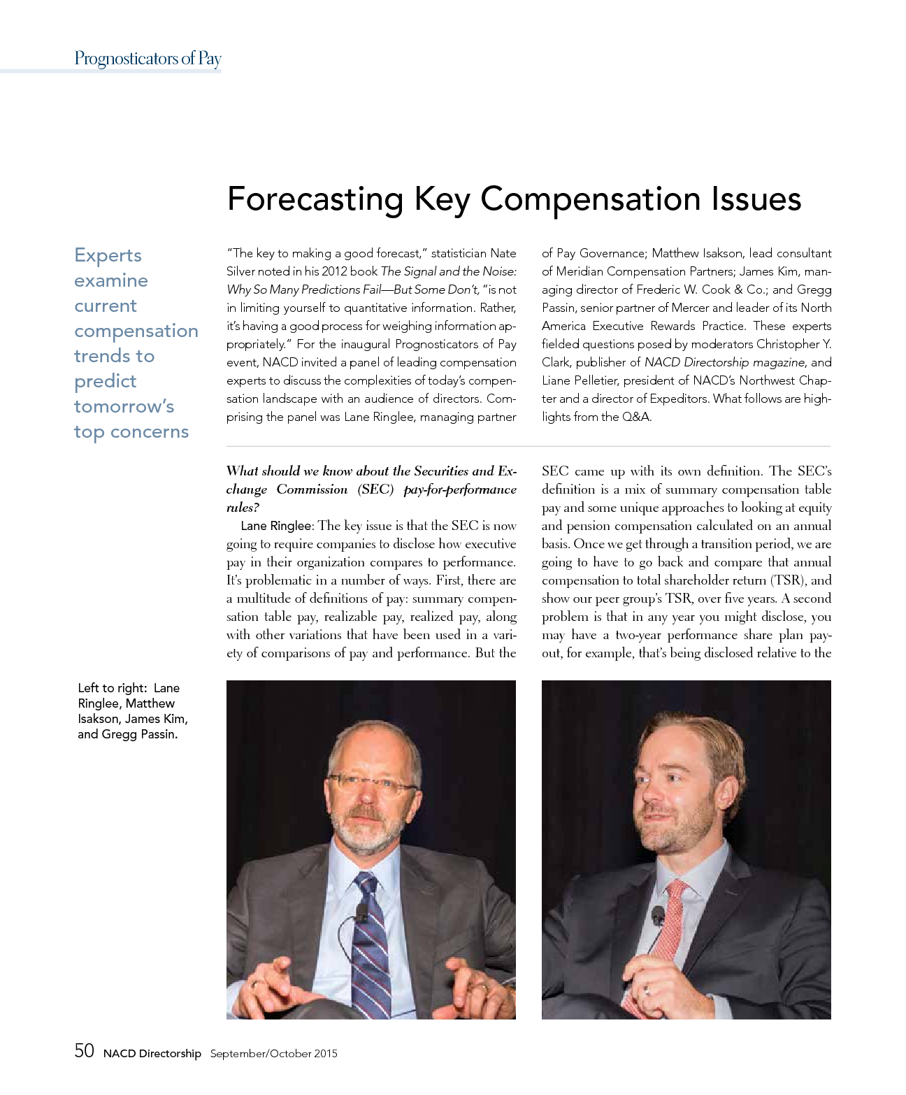 Forecasting Key Compensation Issues (PDF)