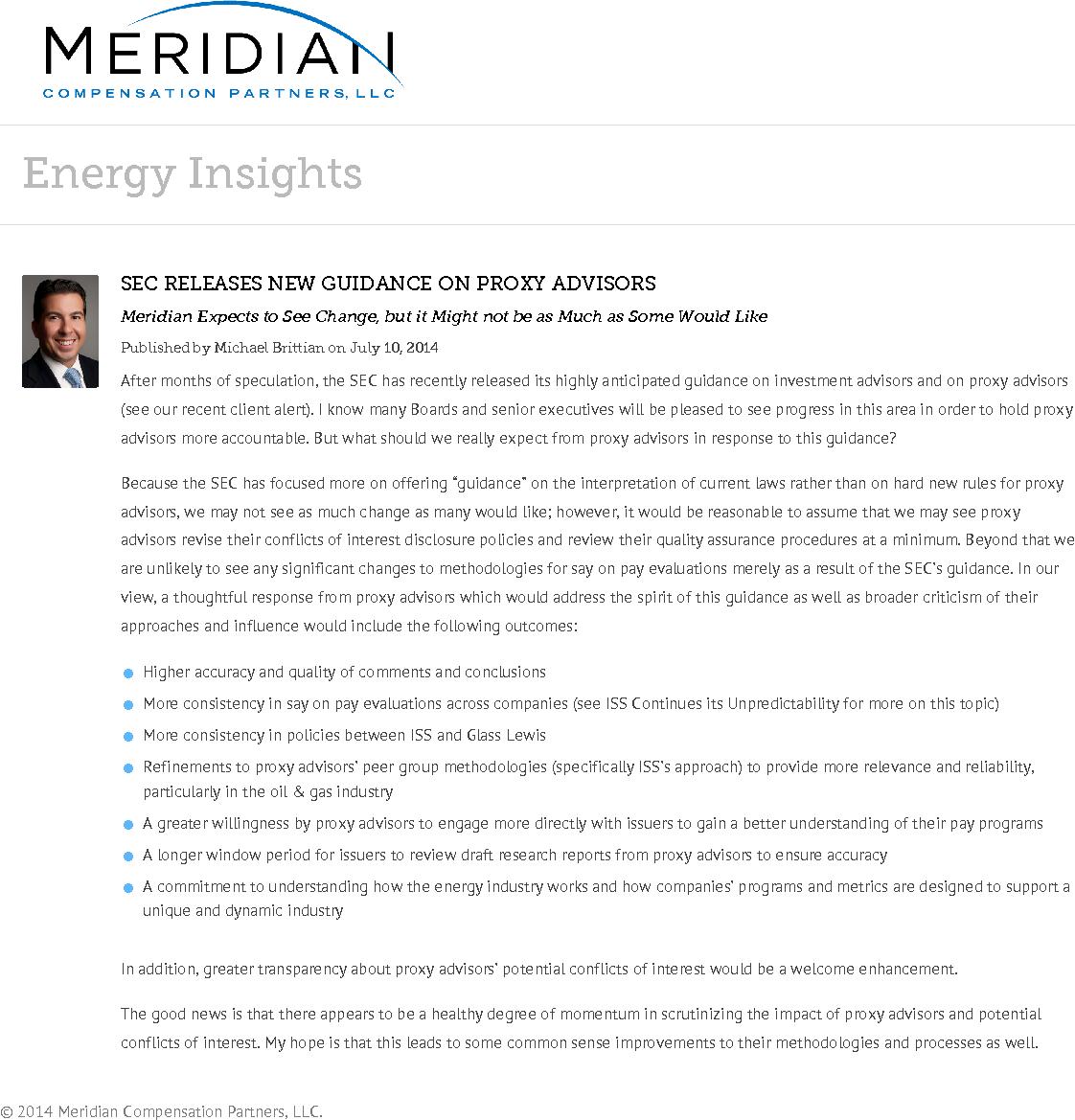 SEC Releases New Guidance on Proxy Advisors (PDF)