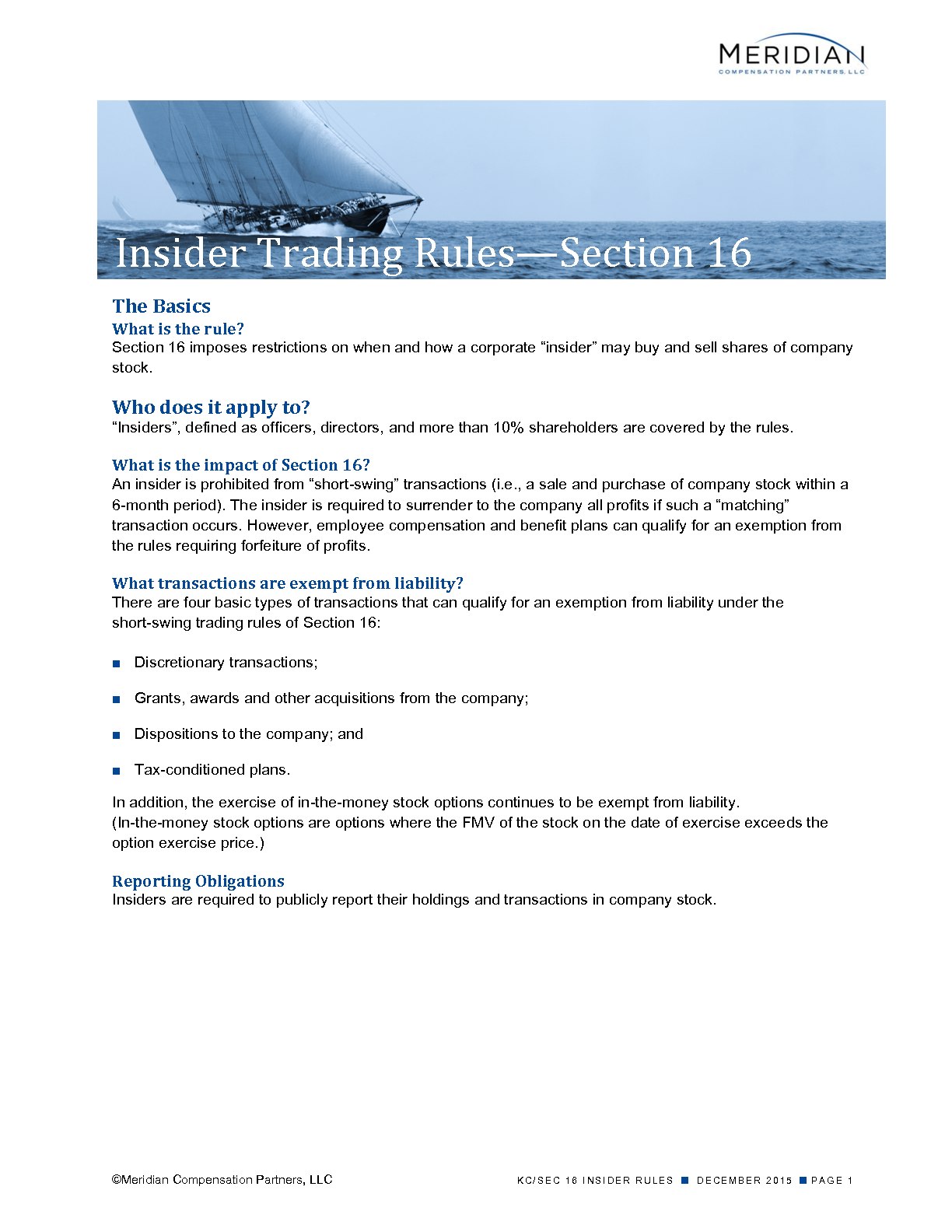 Insider Trading Rules—Section 16 (PDF)