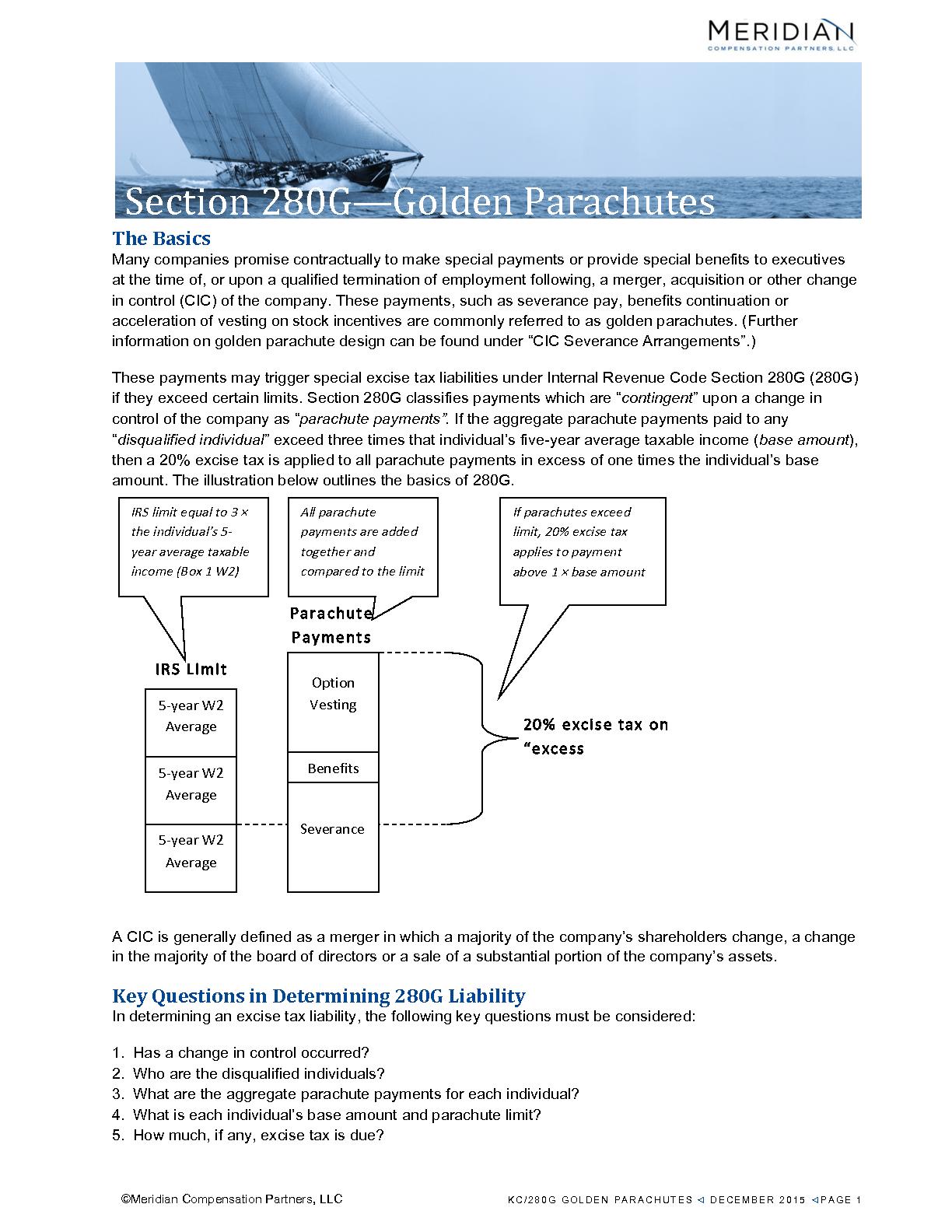 Section 280G—Golden Parachutes (PDF)