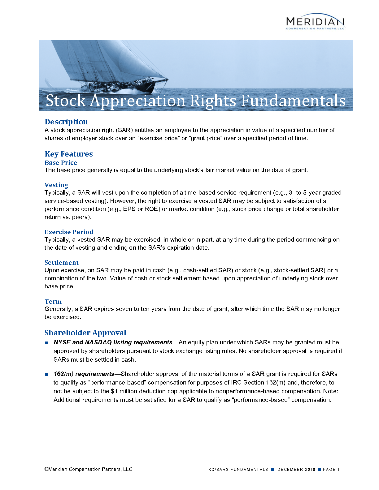 Stock Appreciation Rights Fundamentals (PDF)