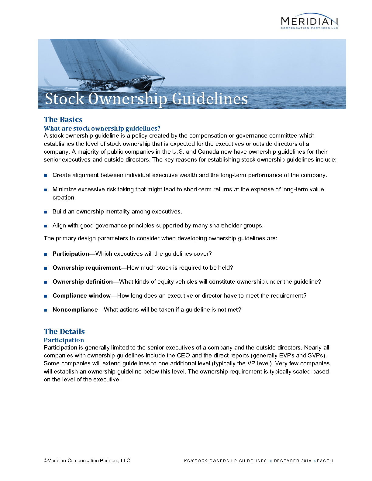 Stock Ownership Guidelines (PDF)