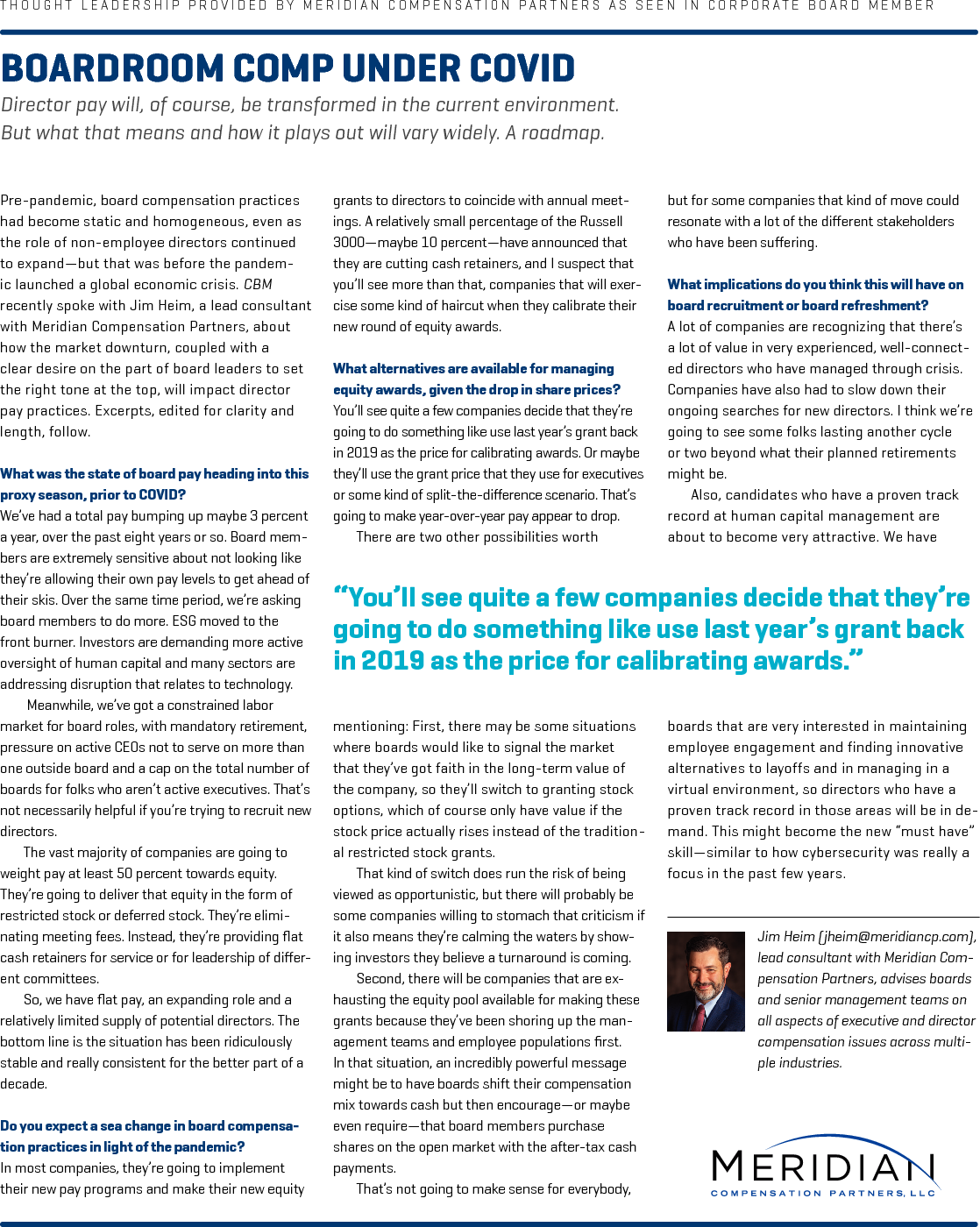Boardroom Comp Under COVID-19 (PDF)