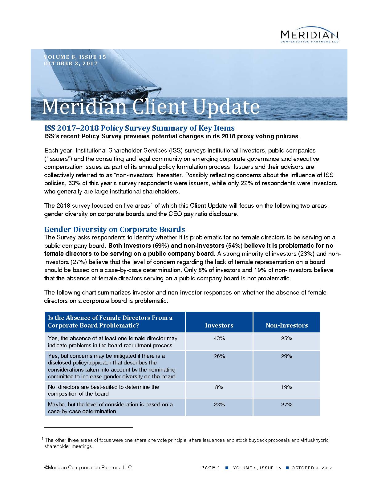 ISS 2017–2018 Policy Survey Summary of Key Items (PDF)