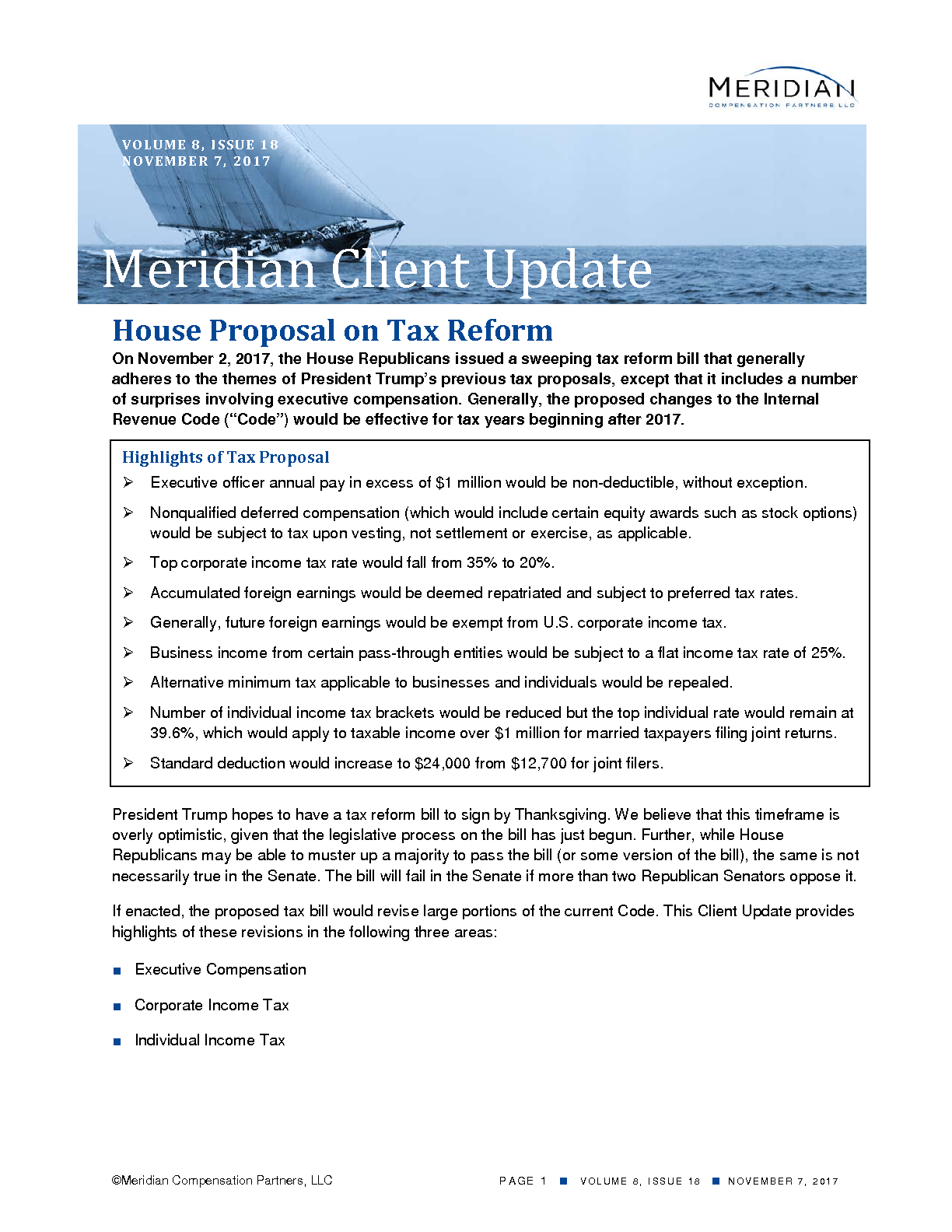 House Proposal on Tax Reform (PDF)