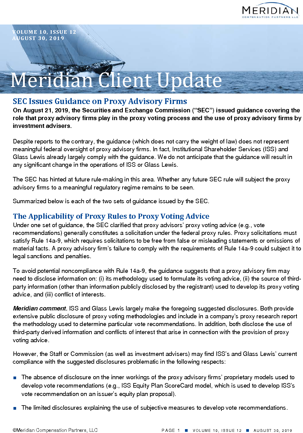 SEC Issues Guidance on Proxy Advisory Firms (PDF)