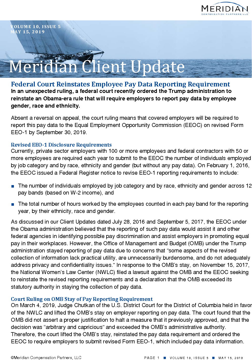 Federal Court Reinstates Employee Pay Data Reporting Requirement (PDF)