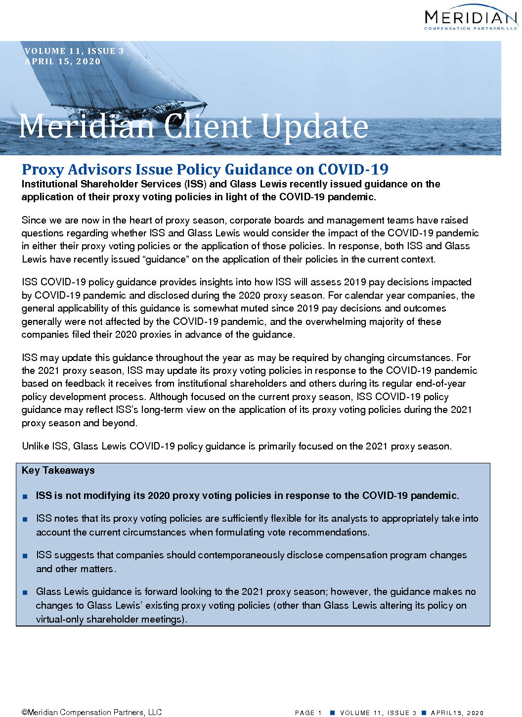 Proxy Advisors Issue Policy Guidance on COVID-19 (PDF)