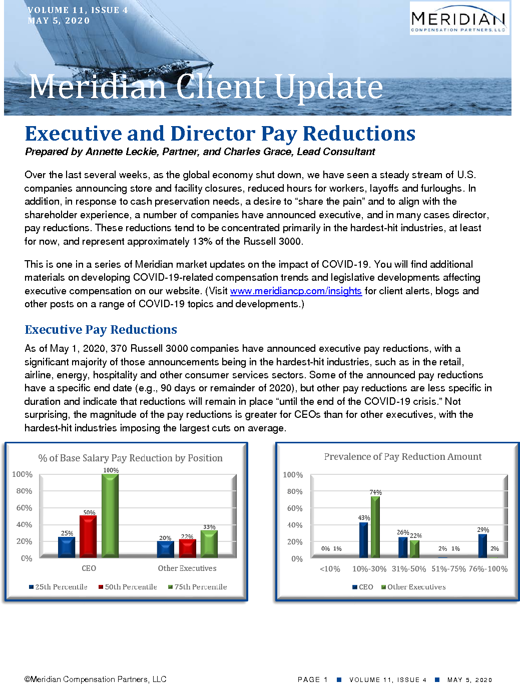 Executive and Director Pay Reductions (PDF)