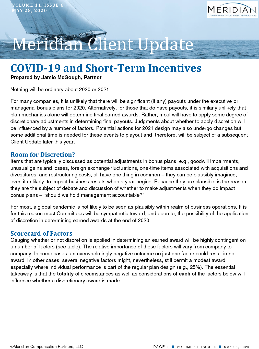 COVID-19 and Short-Term Incentives (PDF)