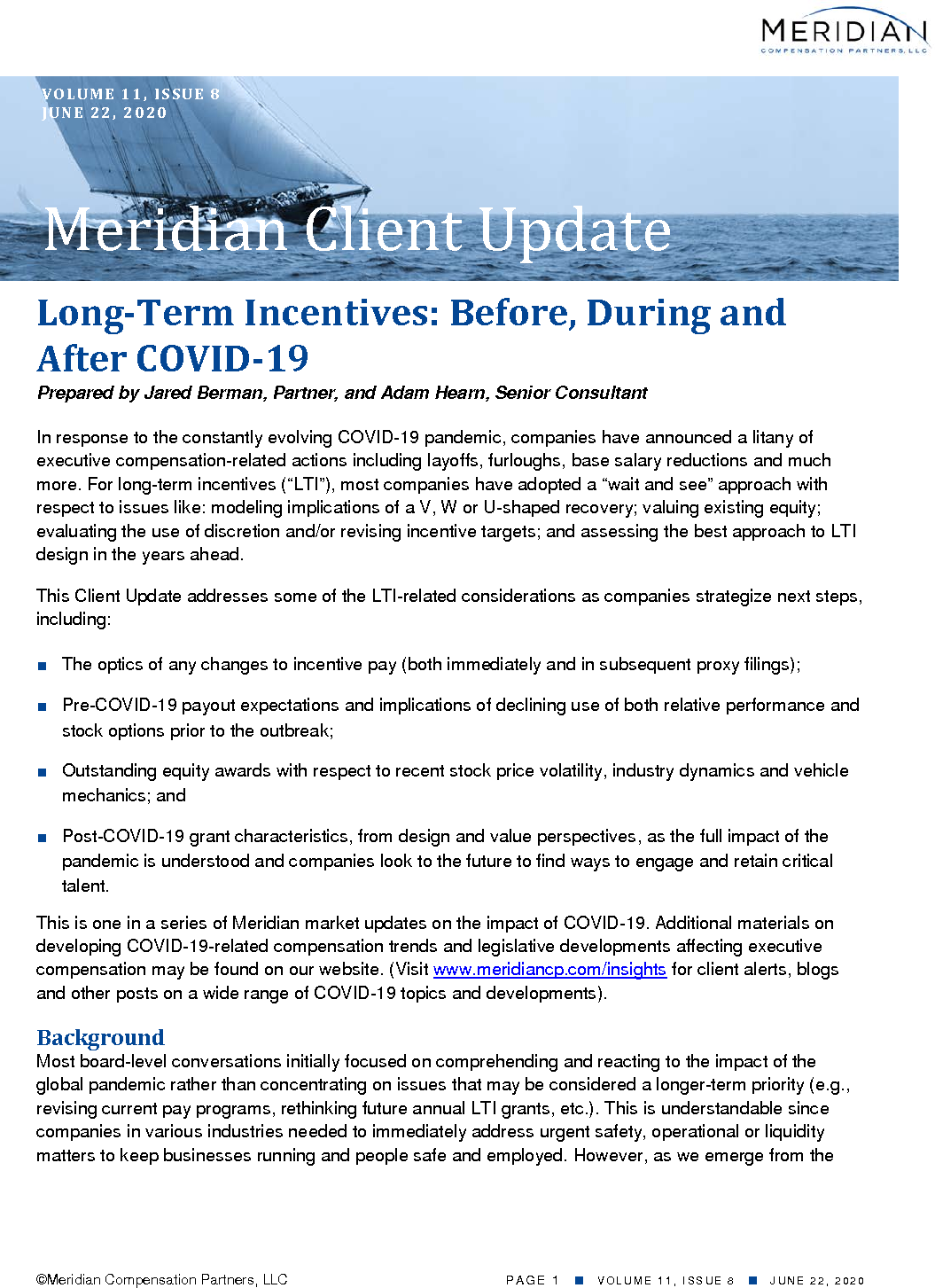 Long-Term Incentives: Before, During and After COVID-19 (PDF)