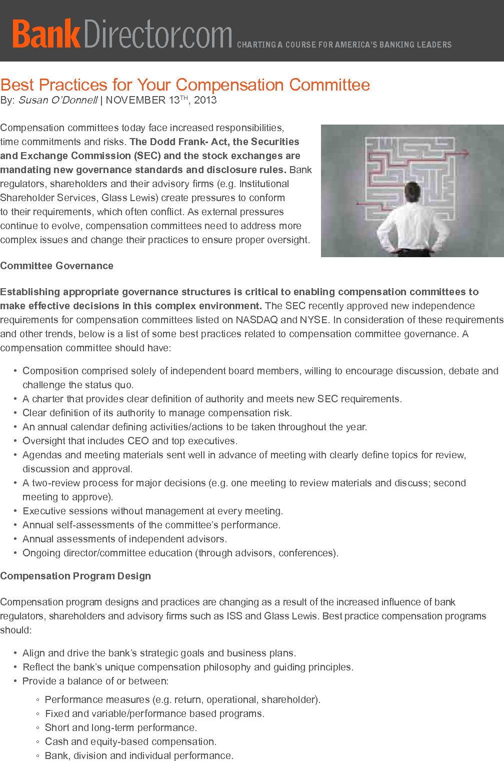 Compensation Committee Best Practices (PDF)