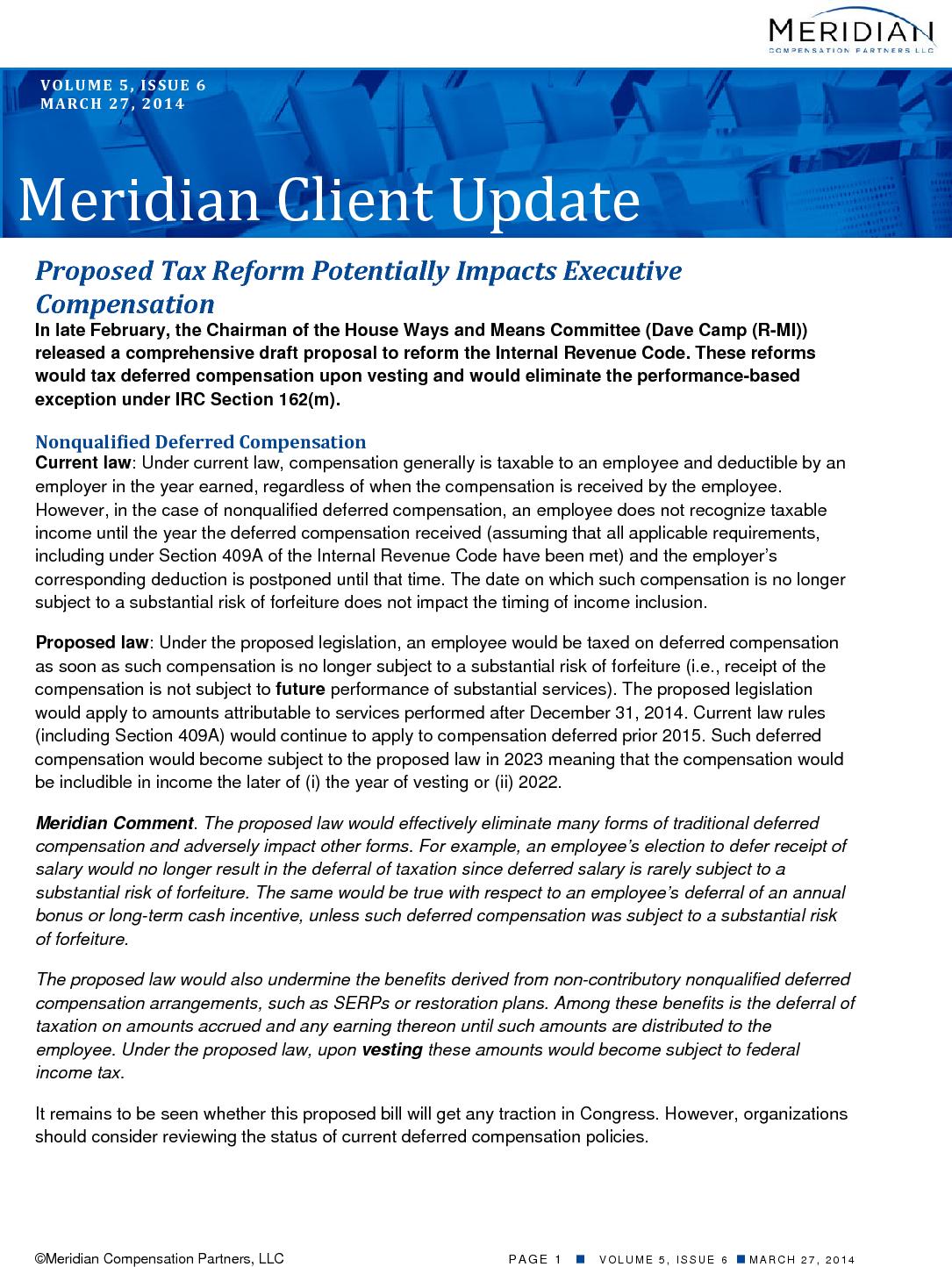 Reform Affects Executives (PDF)